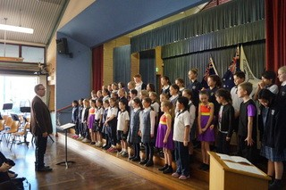 students singing choir